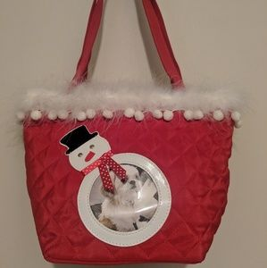 Handbags - ~BRAND NEW Snowman picture frame purse w fringe~